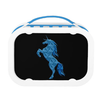 Blue Fire Unicorn Lunch Box