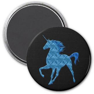 Blue Fire Unicorn Magnet