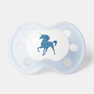 Blue Fire Unicorn Pacifier