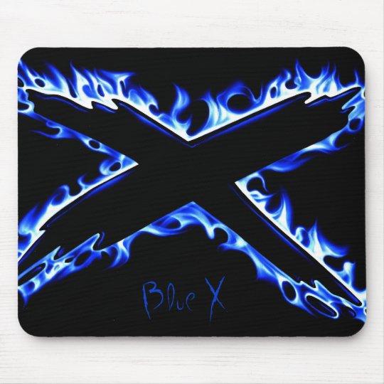 BLUE FIRE X, Blue X Mouse Mat