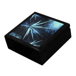 Blue Fireworks Box Large Square Gift Box