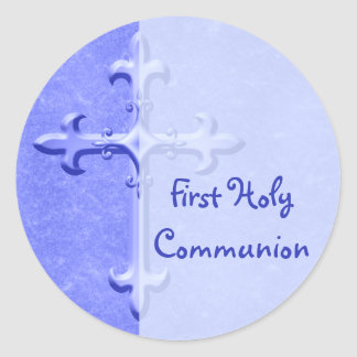 Blue First Holy Communion Sticker