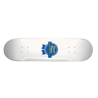 Blue First Place Ribbon Custom Skate Board