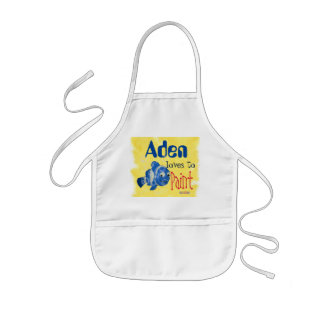 Blue Fish Childrens Painting Kids Apron