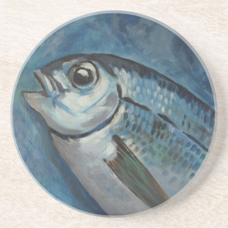 Blue Fish Coaster