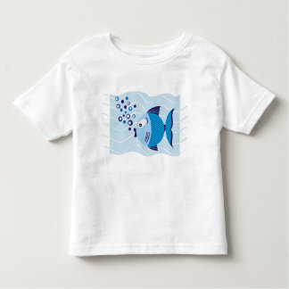 Blue Fish Composition Light kids T-shirt