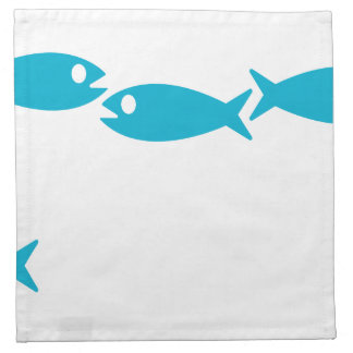 blue fish motif napkin