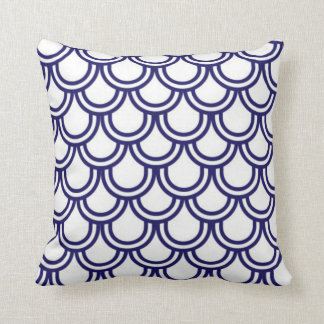 Blue Fish Scales Cushion