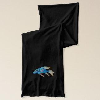 Blue Fish Scarf
