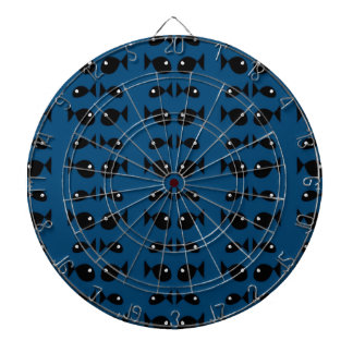 Blue fishes dartboard