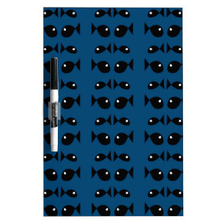Blue fishes Dry-Erase whiteboard