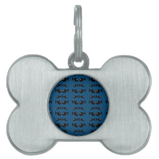 Blue fishes pet name tag