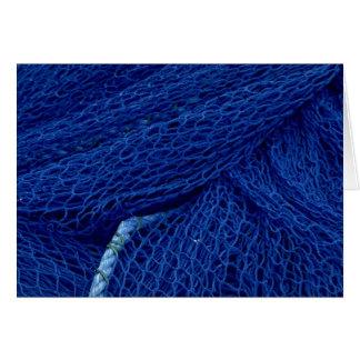 Blue fishing net greeting cards