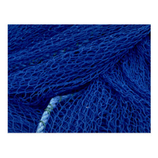 Blue fishing net postcards