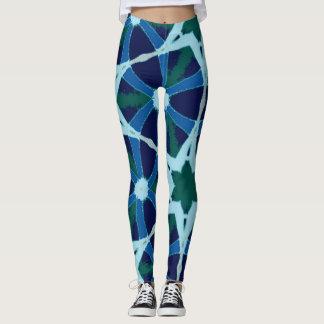 blue fitness leggings