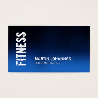 Blue Fitness Modern Business Card