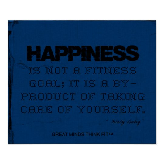 Blue Fitness Poster - Happiness!