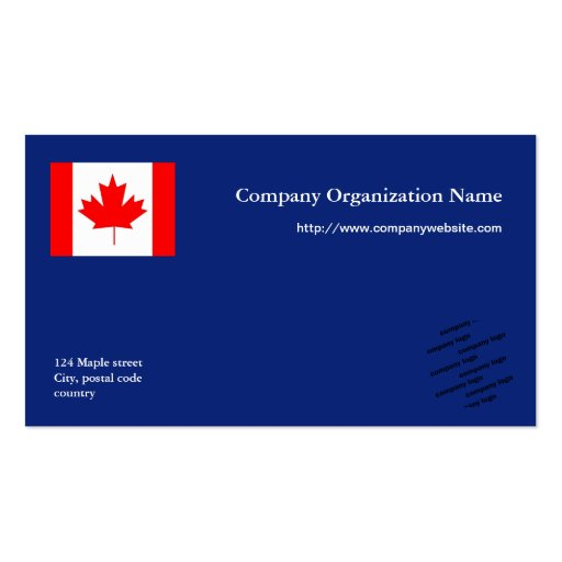 blue flag  and logo international business business card
