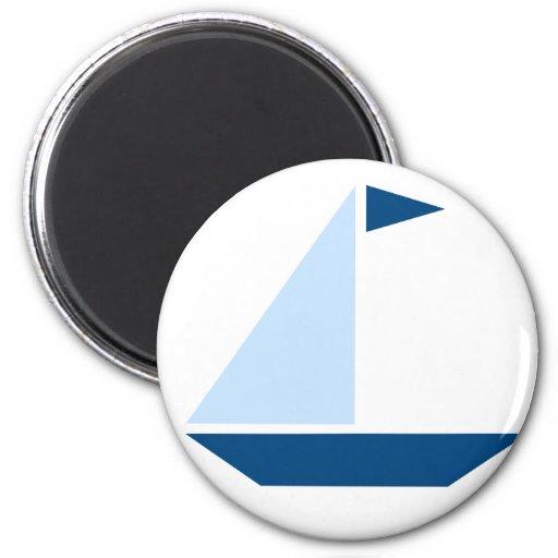 Blue Flag Sail Boat Magnets
