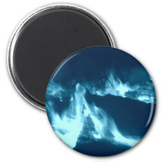 Blue Flame 2 6 Cm Round Magnet