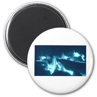 Blue Flame 6 Cm Round Magnet