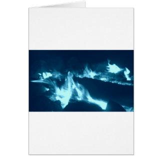 Blue Flame Card