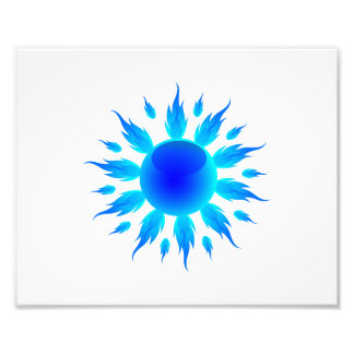 blue flame sun graphic.png photographic print