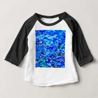 Blue Flames Background Baby T-Shirt