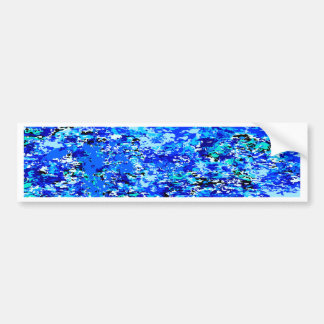 Blue Flames Background Bumper Sticker