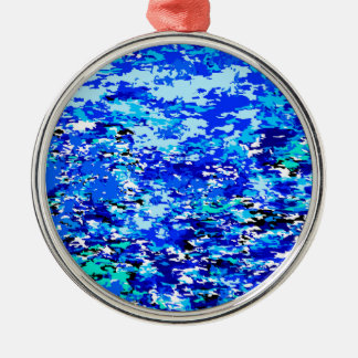Blue Flames Background Christmas Ornament