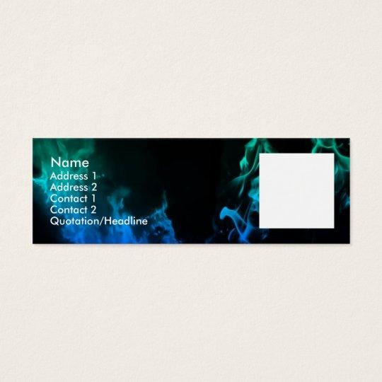 Blue Flames II Mini Business Card