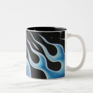 Blue Flames Mug