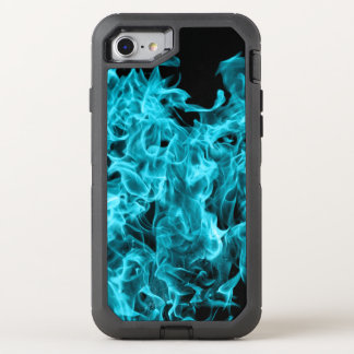 Blue flames OtterBox defender iPhone 8/7 case