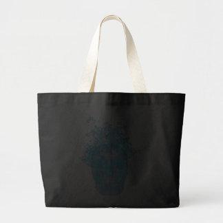 Blue Flaming Skull Tote Bag