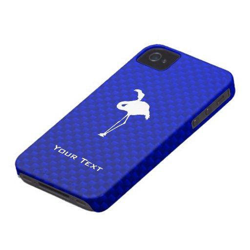 Blue Flamingo Case-Mate iPhone 4 Case