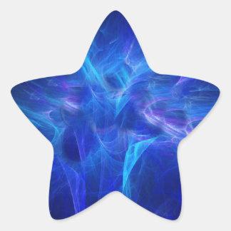 Blue Flash Star Sticker