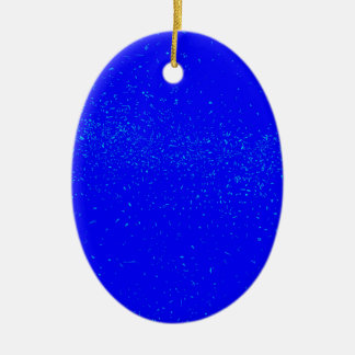 Blue Fleck Background Ceramic Oval Decoration