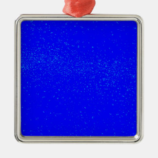 Blue Fleck Background Christmas Ornament
