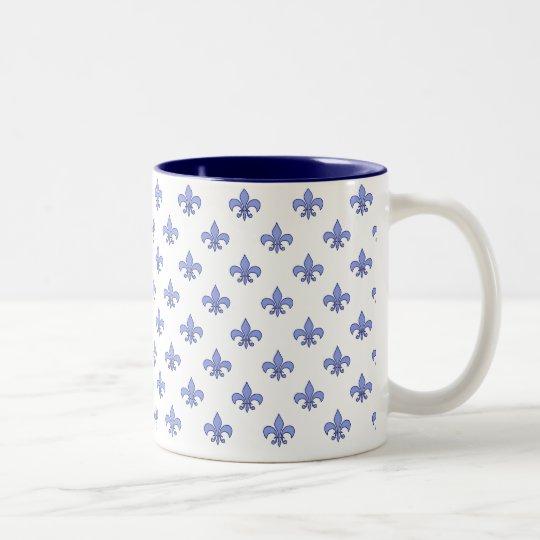 Blue Fleur-de-lis Pattern Mug