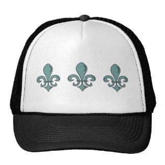 Blue Fleur De Lys Hats