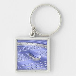 Blue flight key chains