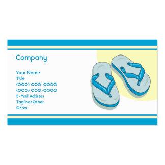 Blue Flip Flops Business Card Templates