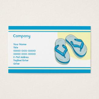 Blue Flip Flops Business Card