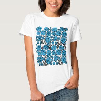 Blue flora shirt