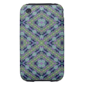 Blue Floral Abstract 2 Tough iPhone 3 Cases
