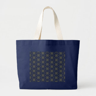 Blue Floral Abstract Canvas Bag