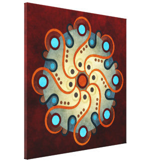 Blue Floral Abstract Vector Art Wrapped Canvas Pr Stretched Canvas Prints
