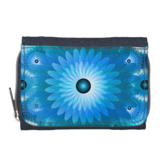 Blue floral abstract wallets