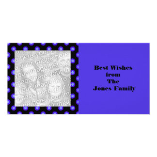blue floral Best Wishes Picture Card
