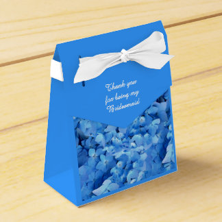 Blue Floral Bridesmaid Thank You Favour Box
